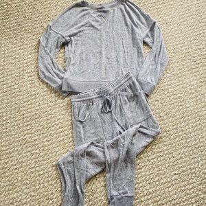 Perfectly Cozy Jogger Set Grey XS